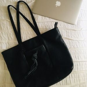 Lucky Brand 100% Leather Carryall Bag